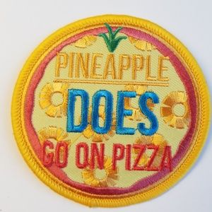 Other - Pineapple Does Go on Pizza iron-on patch